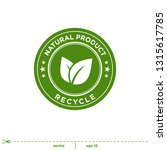 natural leaves stamp icon... | Shutterstock .eps vector #1315617785