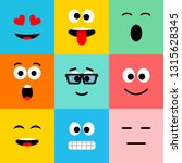 emoji icons. funny faces with... | Shutterstock .eps vector #1315628345