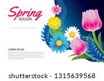 hello spring greeting card and... | Shutterstock .eps vector #1315639568