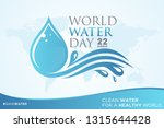 world water day letter on world ... | Shutterstock .eps vector #1315644428