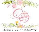 flower vector greeting card... | Shutterstock .eps vector #1315645985