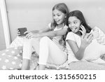 girls smartphone little... | Shutterstock . vector #1315650215