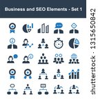 business and seo elements   set ... | Shutterstock .eps vector #1315650842