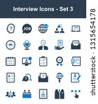 interview icons   set 3 | Shutterstock .eps vector #1315654178