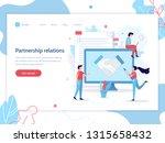partnership relations. web... | Shutterstock .eps vector #1315658432