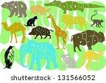 animals in words | Shutterstock . vector #131566052