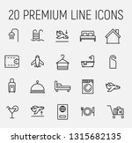 premium set of hotel line icons.... | Shutterstock .eps vector #1315682135