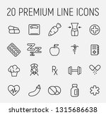premium set of fitness line... | Shutterstock .eps vector #1315686638
