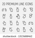 premium set of gesture line... | Shutterstock .eps vector #1315688462