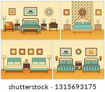 hotel room interior. bedrooms... | Shutterstock . vector #1315693175