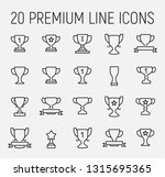 trophy related vector icon set. ... | Shutterstock .eps vector #1315695365