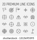 set of target icons in modern... | Shutterstock .eps vector #1315695395
