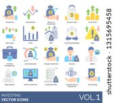 investing icons including... | Shutterstock .eps vector #1315695458