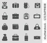 bags icons. sticker design.... | Shutterstock .eps vector #1315699808