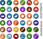 color back flat icon set   barn ... | Shutterstock .eps vector #1315700675