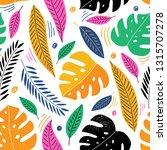 modern tropical seamless... | Shutterstock .eps vector #1315707278