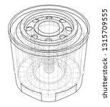 vector oil filter concept.... | Shutterstock .eps vector #1315709555