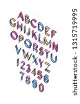bright english font. vector.... | Shutterstock .eps vector #1315719995