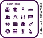 toast icon set. 16 filled toast ... | Shutterstock .eps vector #1315724828