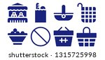 grocery icon set. 8 filled... | Shutterstock .eps vector #1315725998