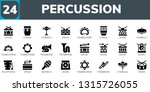 percussion icon set. 24 filled... | Shutterstock .eps vector #1315726055