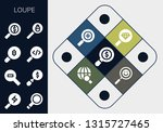 loupe icon set. 13 filled loupe ... | Shutterstock .eps vector #1315727465