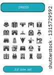 dress icon set. 25 filled dress ... | Shutterstock .eps vector #1315729592