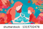 happy mother's day  child... | Shutterstock .eps vector #1315732478