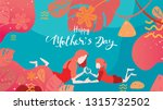 happy mother's day  child... | Shutterstock .eps vector #1315732502