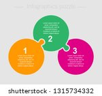 three pieces puzzle circles... | Shutterstock .eps vector #1315734332