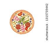 pizza. food cartoon. isolated... | Shutterstock .eps vector #1315735442