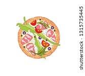 pizza. food cartoon. isolated... | Shutterstock .eps vector #1315735445