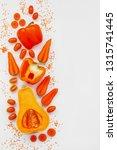 orange vegetables on white... | Shutterstock . vector #1315741445