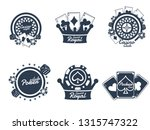 typography  badge or emblem set ... | Shutterstock .eps vector #1315747322