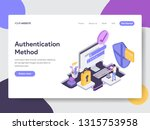 landing page template of online ... | Shutterstock .eps vector #1315753958