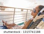 cruise ship vacation woman... | Shutterstock . vector #1315761188