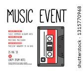 music event cassette invitation ... | Shutterstock .eps vector #1315770968