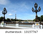 Bridge over Seine in Paris,France - stock photo