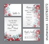wedding invitation set.... | Shutterstock .eps vector #1315782572