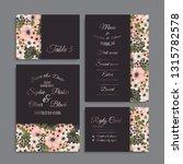 wedding invitation set.... | Shutterstock .eps vector #1315782578