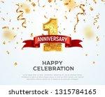 1 year anniversary vector... | Shutterstock .eps vector #1315784165