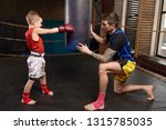 child and instructor in ring... | Shutterstock . vector #1315785035