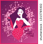 poster for ladies night party... | Shutterstock .eps vector #1315785302