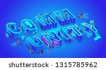 word community. isometric 3d... | Shutterstock .eps vector #1315785962