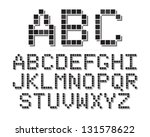an 8 bit or pixel themed font...