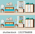 bedroom set with furniture and... | Shutterstock .eps vector #1315786808