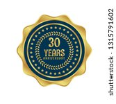 gold button with 30 years... | Shutterstock .eps vector #1315791602