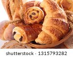 assorted croissant and pastry | Shutterstock . vector #1315793282