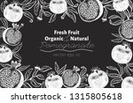 pomegranate fruit design... | Shutterstock .eps vector #1315805618