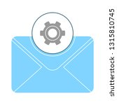 message icon  envelope... | Shutterstock .eps vector #1315810745